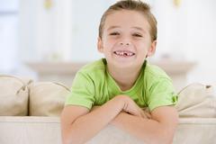 Young Boy Smiling At Camera - stock photo