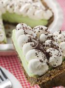 Slice Of Keylime Pie - stock photo