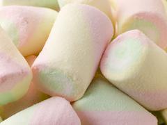 Coloured Marshmallows Stock Photos