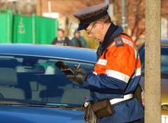 Traffic warden Stock Photos