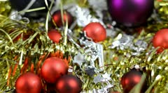 Christmas decorations Stock Footage