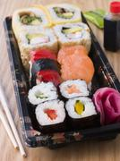 Take Away Sushi Tray - stock photo