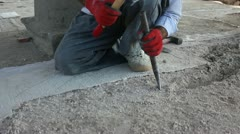 Mortar Excavation Stock Footage