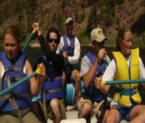 POV River Rafting 2 - stock footage