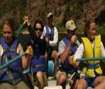 POV River Rafting 2 Stock Footage