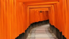 Fushimi Inari Shrine, Tora reveal - stock footage