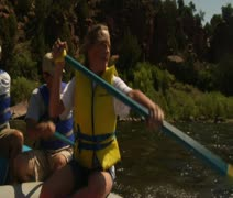 POV River Rafting 4 - stock footage