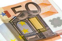 Fifty euro banknote Stock Photos