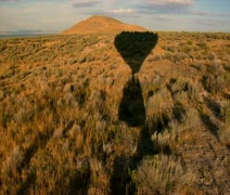 Point of view from a hot air balloon drifting overground Stock Footage