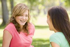 Portrait of teenage girls Stock Photos