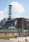 Chernobyl atomic power station Stock Photos