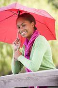 Portrait of teenage girl outdoors Stock Photos