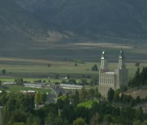 Mormon Temple Manti Utah - stock footage
