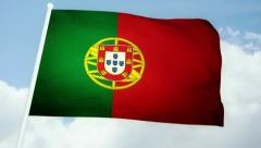 Flag Portugal 03 Stock Footage