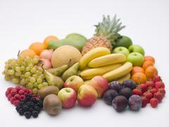 selection of fresh fruit - stock photo