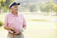Portrait of a male golfer Stock Photos