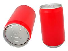 aluminum drink can - stock photo