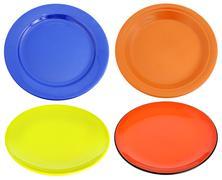 Multi-colored ceramic plates Stock Photos