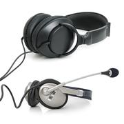 stereo ear-phones - stock photo
