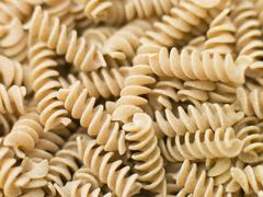 pasta, fusilli, wholewheat - stock photo
