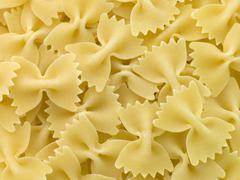pasta, farfalle - stock photo
