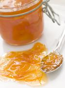jar of marmalade - stock photo