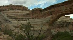 Natural Bridges national Monument Utah Stock Footage