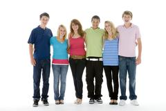 Group shot of teenagers Stock Photos