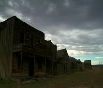 Time lapse of old Western movie set Stock Footage
