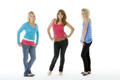 Full length portrait of teenagers Stock Photos