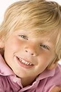 portrait of young boy - stock photo