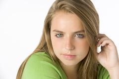 Stock Photo of portrait of teenage girl
