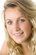 portrait of teenage girl - stock photo