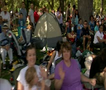 spectators at parade - stock footage