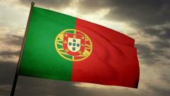 Flag Portugal 05 Stock Footage