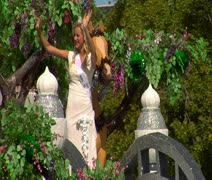 Beauty queen on Parade float Stock Footage