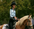 Stock Video Footage of cowgirl in parade