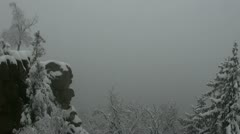 Winter still life in the german Harz Stock Footage
