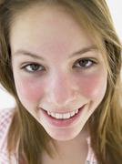 Portrait Of Teenage Girl Smiling - stock photo