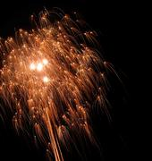 Stock Photo of dynamic pyrotechnics
