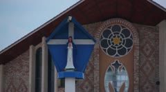 Close up of Mary Shrine of Assumption in Rwanda Africa Stock Footage