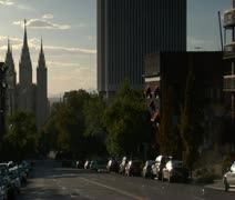 Mormon Temple Sale Lake City Stock Footage