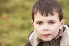 Portrait Of Young Boy Stock Photos