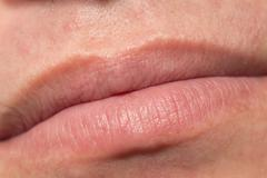 men's lips. macro - stock photo