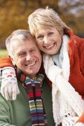 Portrait Of Senior Couple Hugging - stock photo