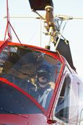 Pilot flying Medevac - stock photo