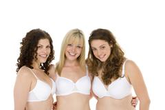 portrait of women in their underwear - stock photo