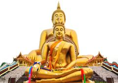 Big buddha statue at wat muang temple in thailand Stock Photos