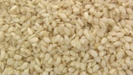 Sesame seeds zoom out 2 Stock Footage