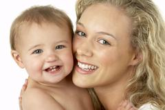 Mother And Child Smiling Stock Photos